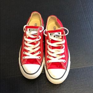 Barely worn red converse